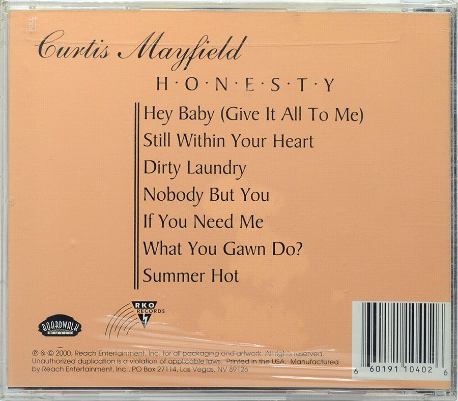 CD Curtis Mayfield - Honesty - Lacrado - Importado