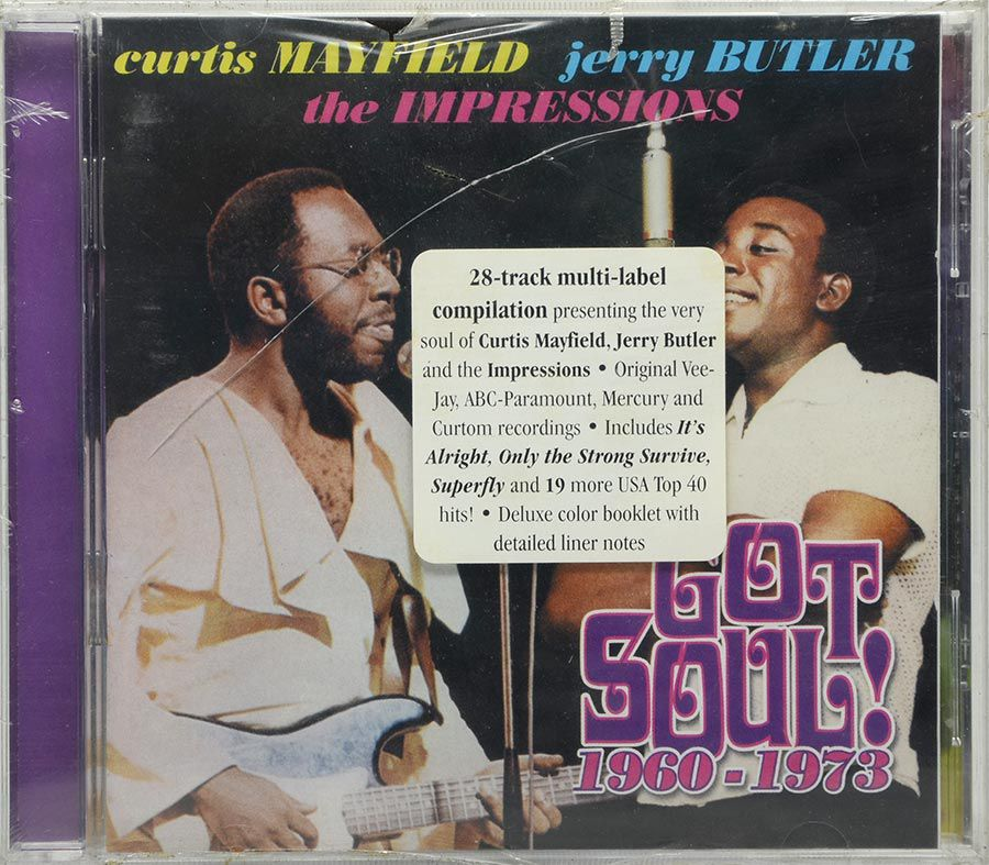 Cd Curtis Mayfield - Jerry Butler The Impressions - Lacrado - Importado