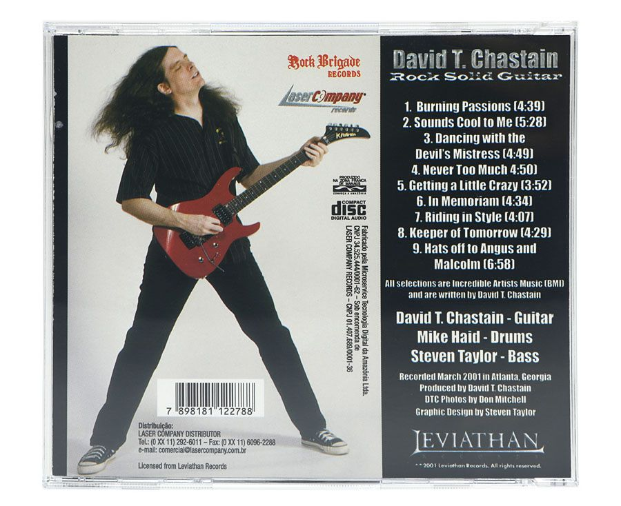 CD David T. Chastain - Rock Solid Guitar - Lacrado