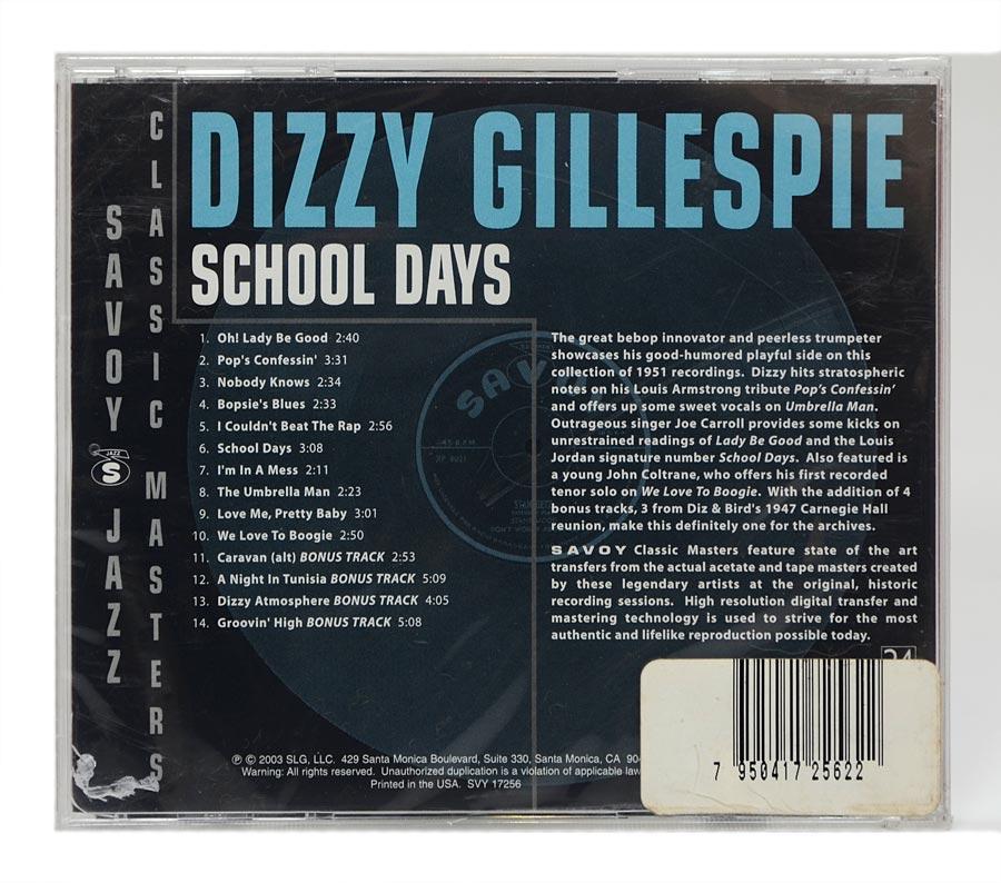 CD Dizzy Gillespie - School Days - Importado - Lacrado