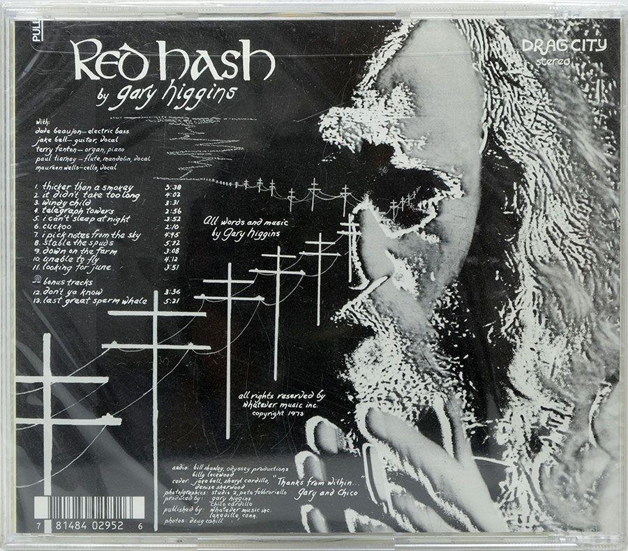 CD Drag City - Red Hash Gary Higgins - Lacrado - Importado