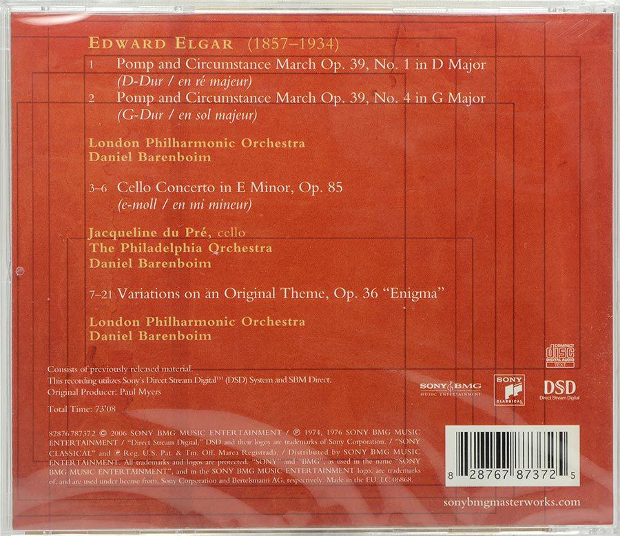 Cd Du Pré Barenboim - Elgar Cello Concerto - Lacrado - Importado