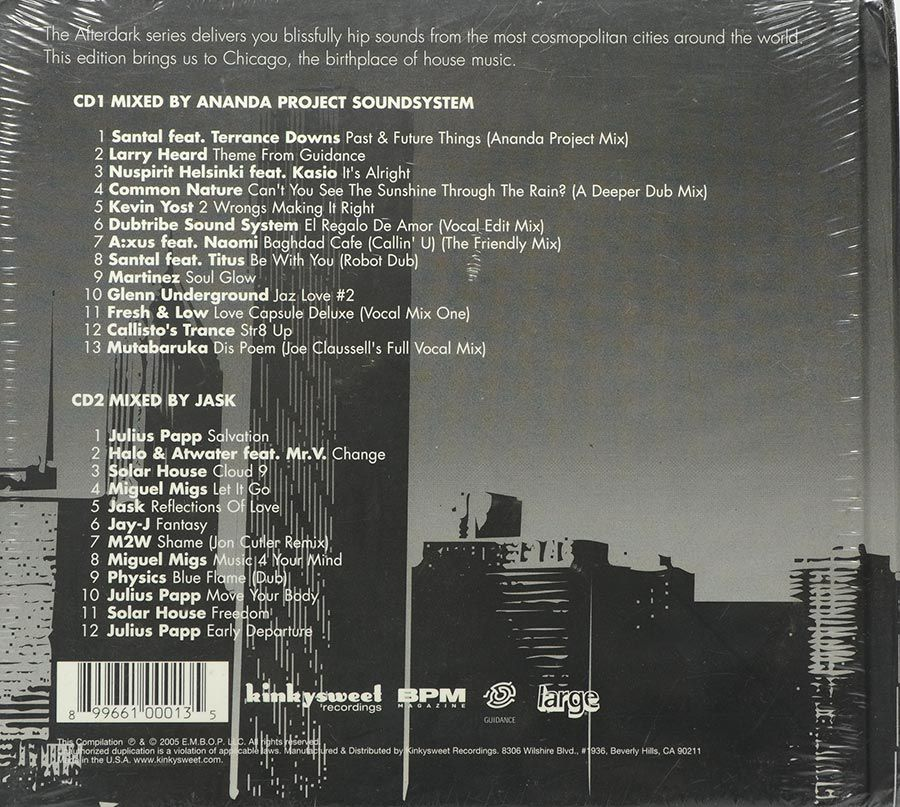Cd Duplo Afterdark - Chicago - Lacrado - Importado