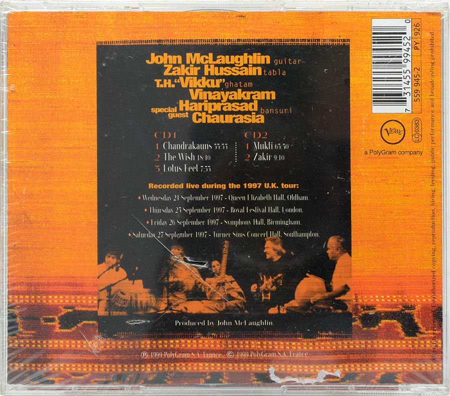 CD Duplo Remember Shakti - John Mclaughlin - Lacrado - Importado