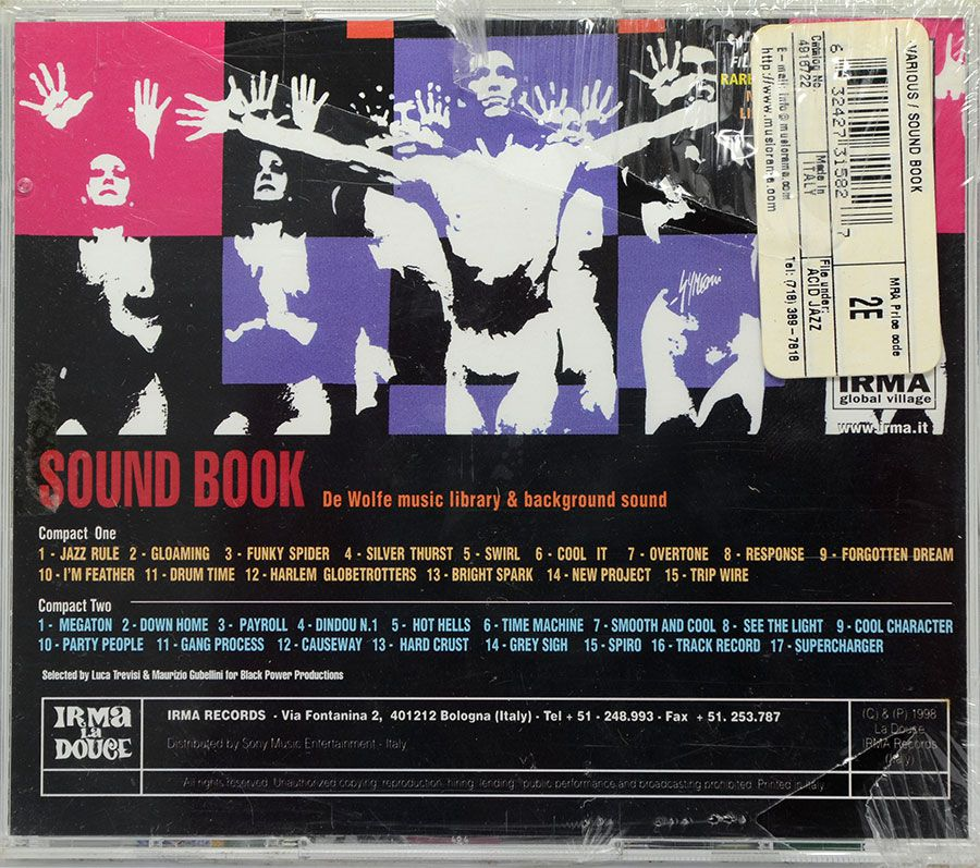 CD Duplo Sound Book - De Wolfe Music Library & Background Sound - Lacrado - Importado