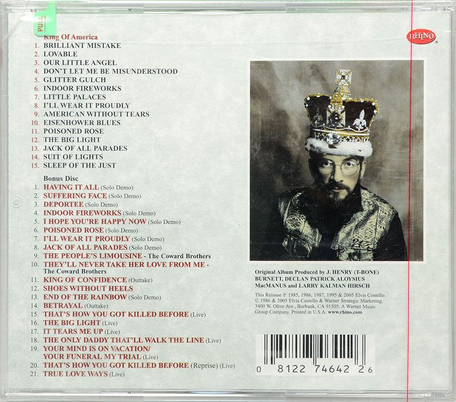 CD Duplo The Costello Show - King Of America - Lacrado - Importado