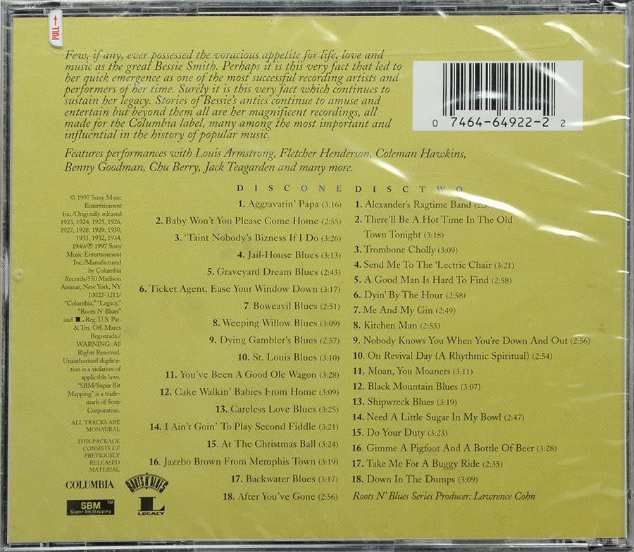 CD Duplo The Essential Bessie Smith - Lacrado - Importado