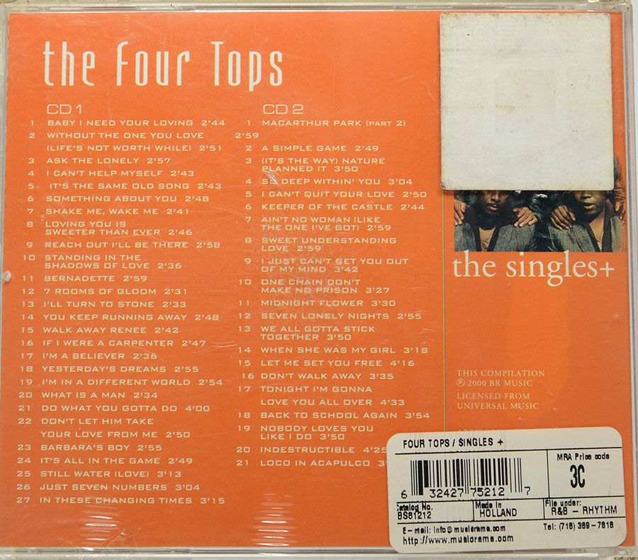 Cd Duplo The Four Tops The Singles + Lacrado - Importado