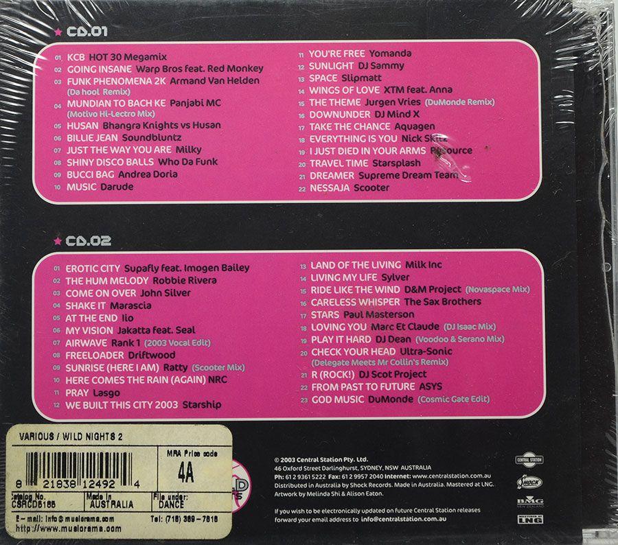 CD Duplo Wild Nights 2 - Vários Artistas Dance Music - Lacrado - Importado