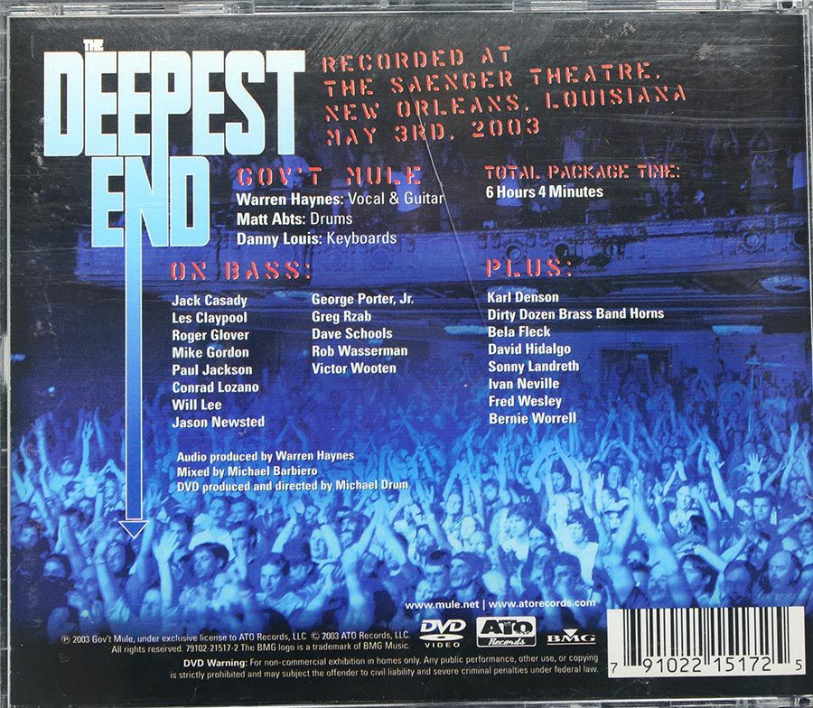 CD DVD Gov´t Mule - The Deepest End - Live In Concert - Importado