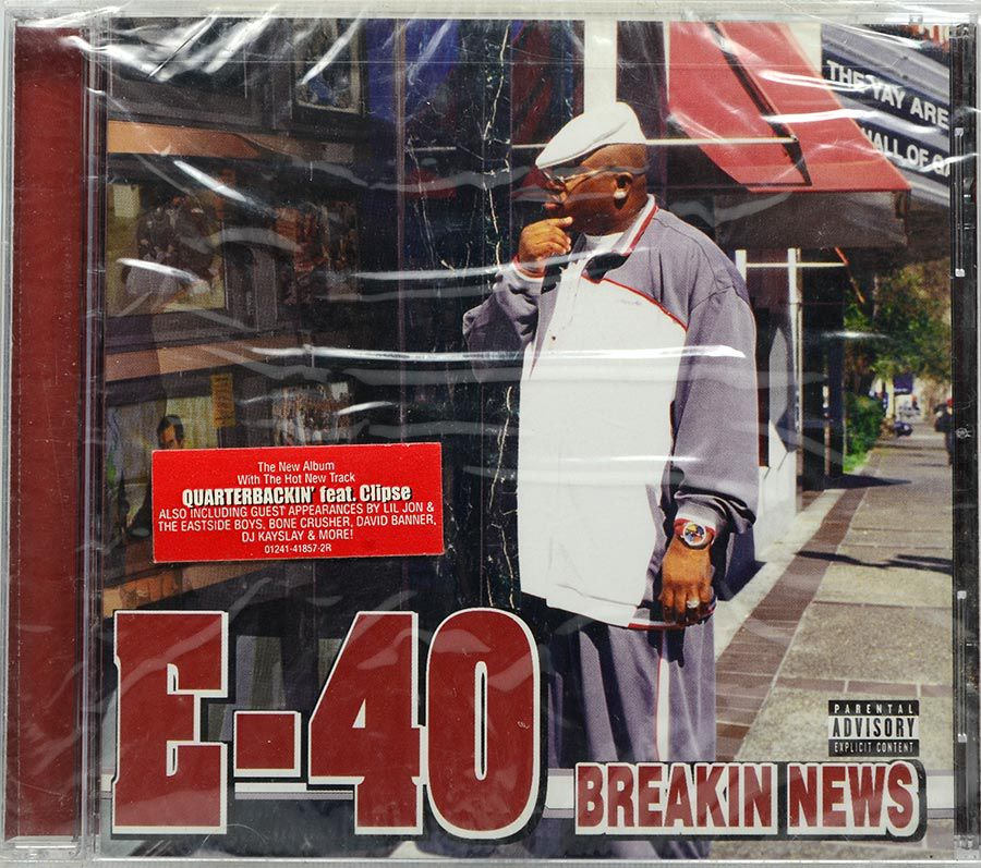 CD E-40 - Breaking News - Lacrado - Importado