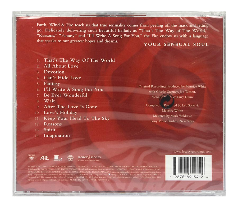 CD Earth, Wind & Fire - Beautiful Ballads - Importado - Lacrado