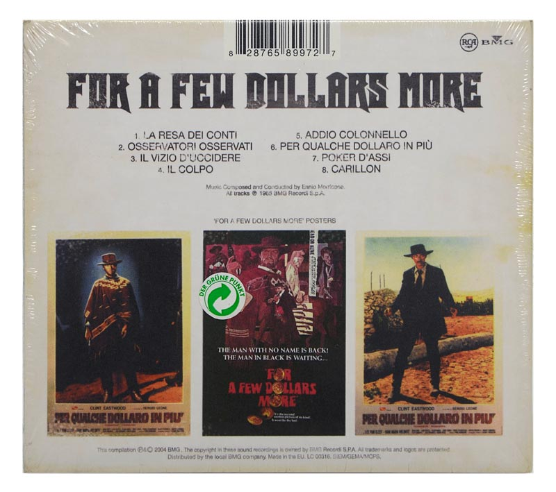 CD Ennio Morricone - For a Few Dollars More - Digipack Importado EU - Lacrado