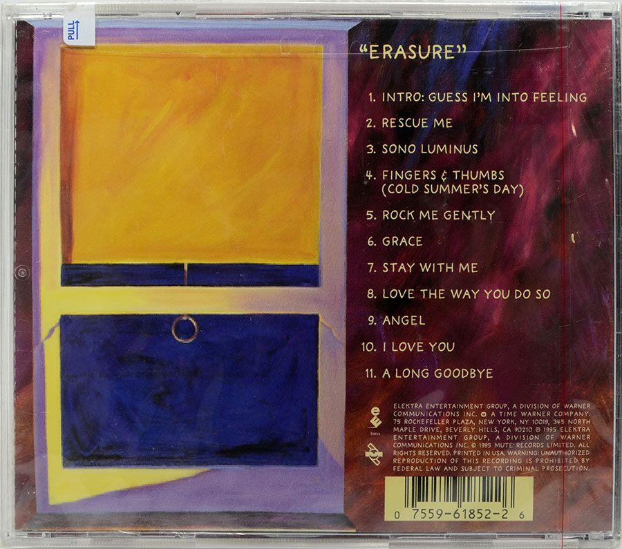 CD Erasure - Erasure - Lacrado - Importado