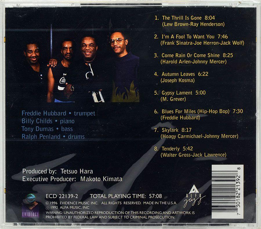 CD Freddie Hubbard - Blues For Miles - Lacrado - Importado