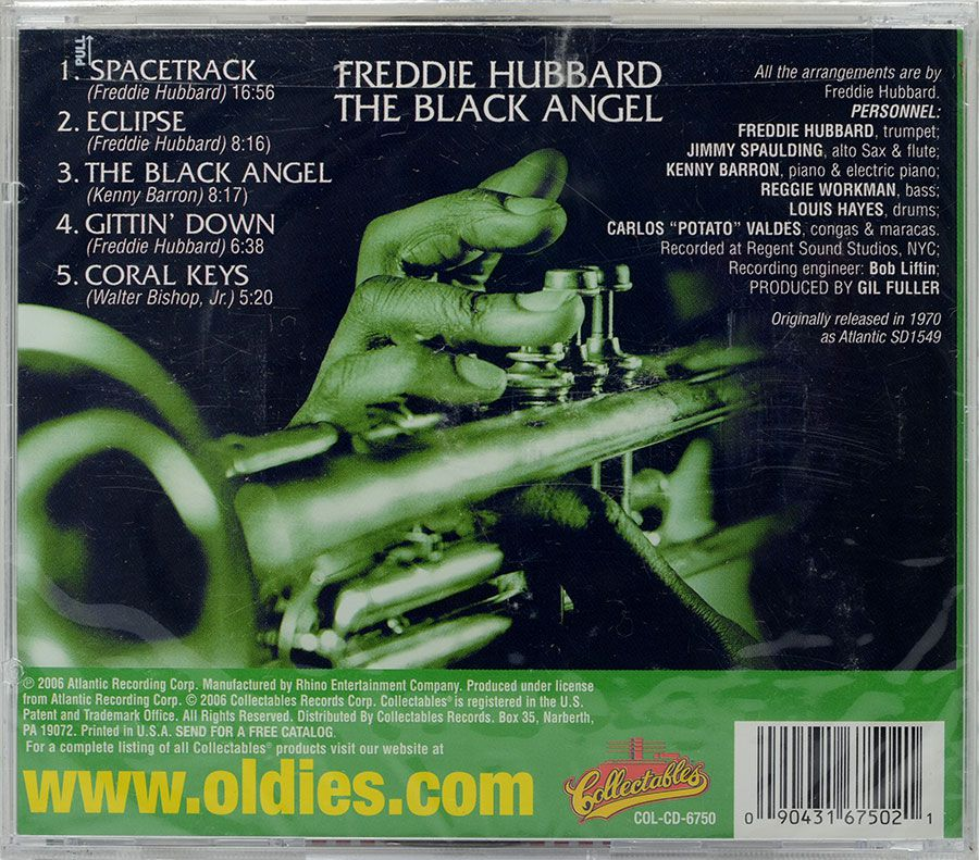 CD Freddie Hubbard - The Black Angel - Lacrado - Importado