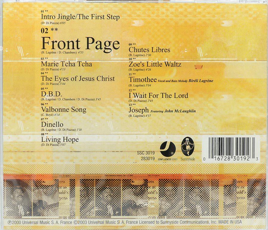 Cd FrontPage - Dennis Chambers - Bireli Lagrene - Dominique Di Piazza - Lacrado - Importado