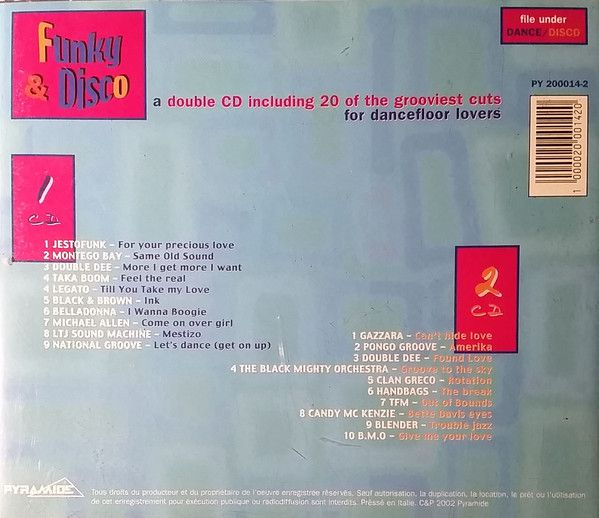CD Funky & Disco - A Double CD Including 20 Of The Grooviest Cuts For Dancefloor Lovers - Lacrado - Importado