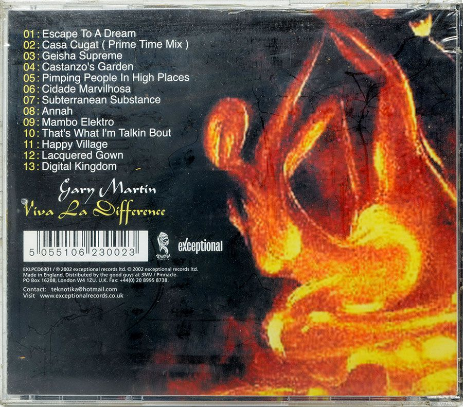 CD Gary Martin - Viva La Difference - Lacrado - Importado