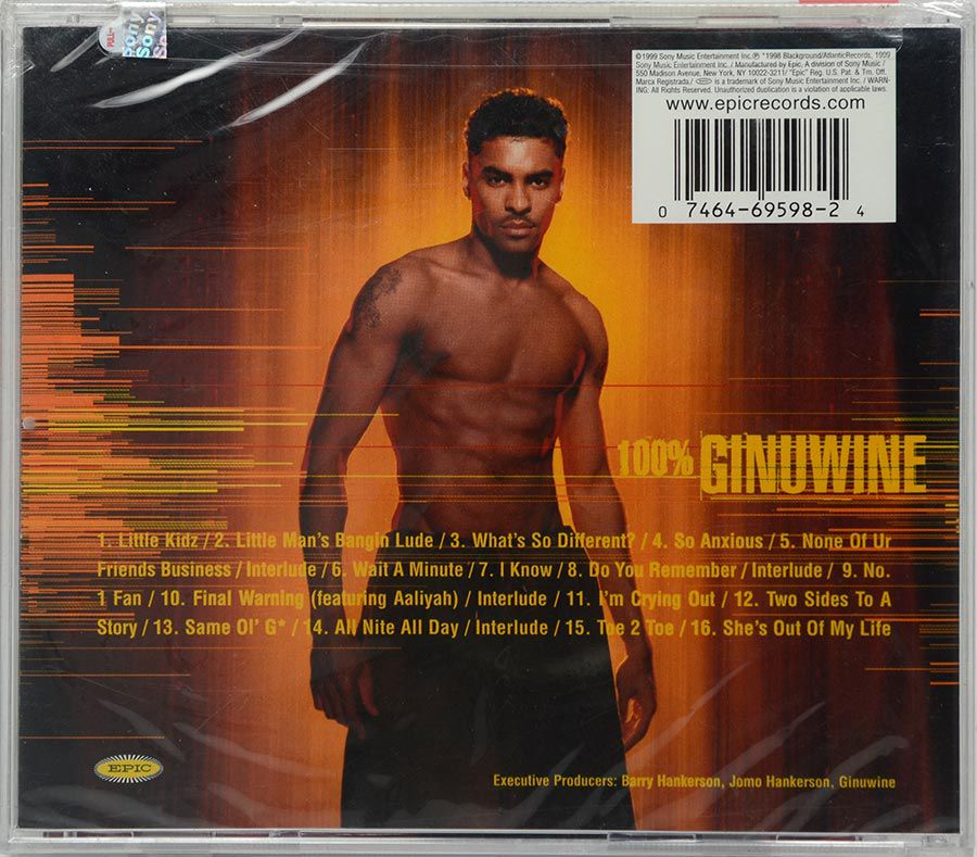 CD Ginuwine - 100% Ginuwine - Lacrado - Importado