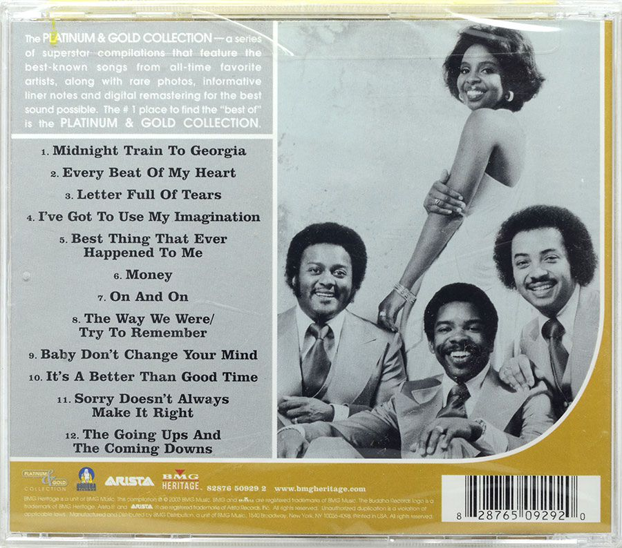 CD Gladys Knight & The Pips - Platinum Gold - Lacrado - Importado