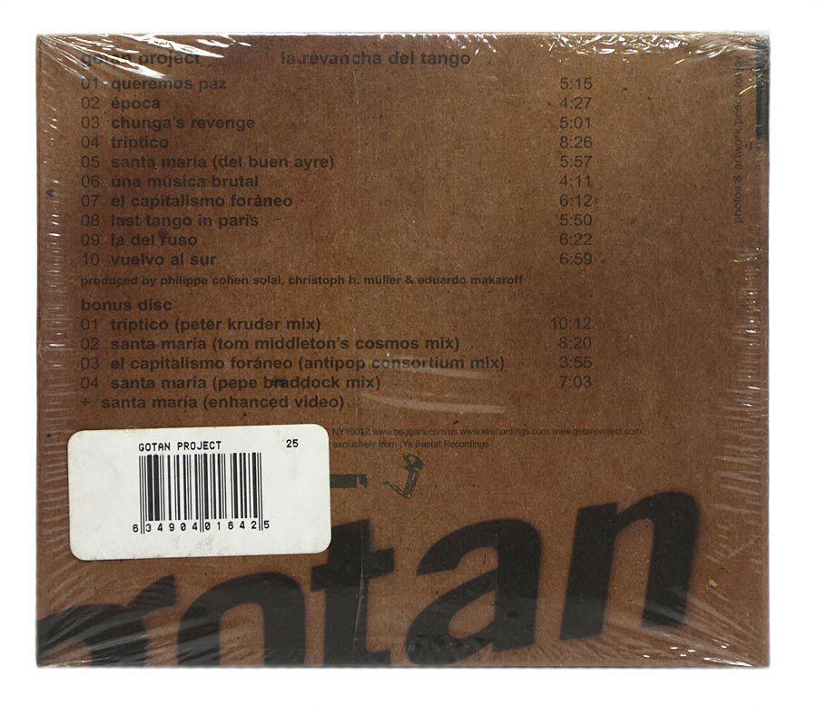 CD Gotan Project - La Revancha Del Tango - Duplo Digipack - Importado - Lacrado