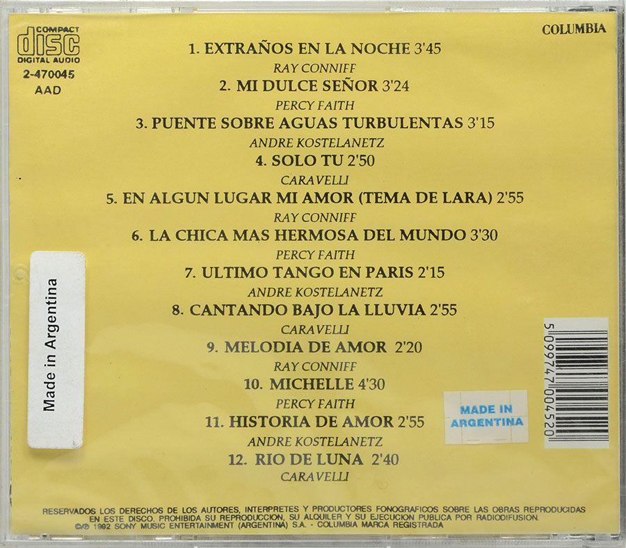 CD Grandes Melodias Ray Conniff Percy Faith Andre Kostelanetz Caravelli - Lacrado - Importado