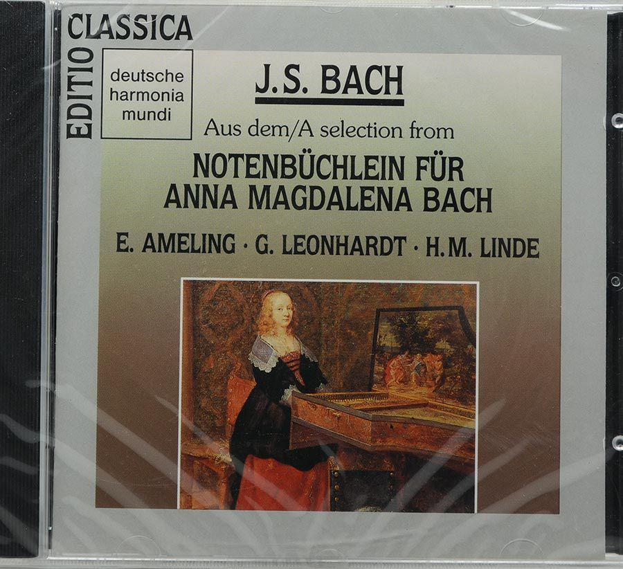 CD Gustav Leonhardt - Bach: Anna Magdalena - Lacrado - Importado