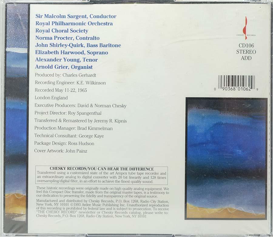 Cd Handels Messiah Sir Malcolm Sargent - Lacrado - Importado
