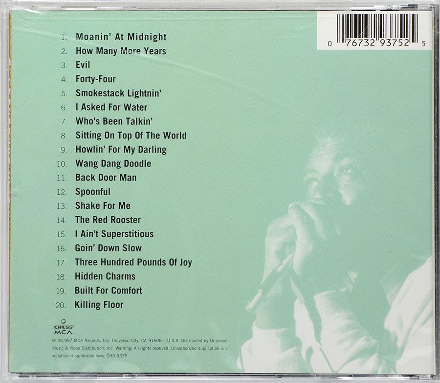 CD Howlin' Wolf - His Best Chess 50th Anniversary Collection - Lacrado - Importado