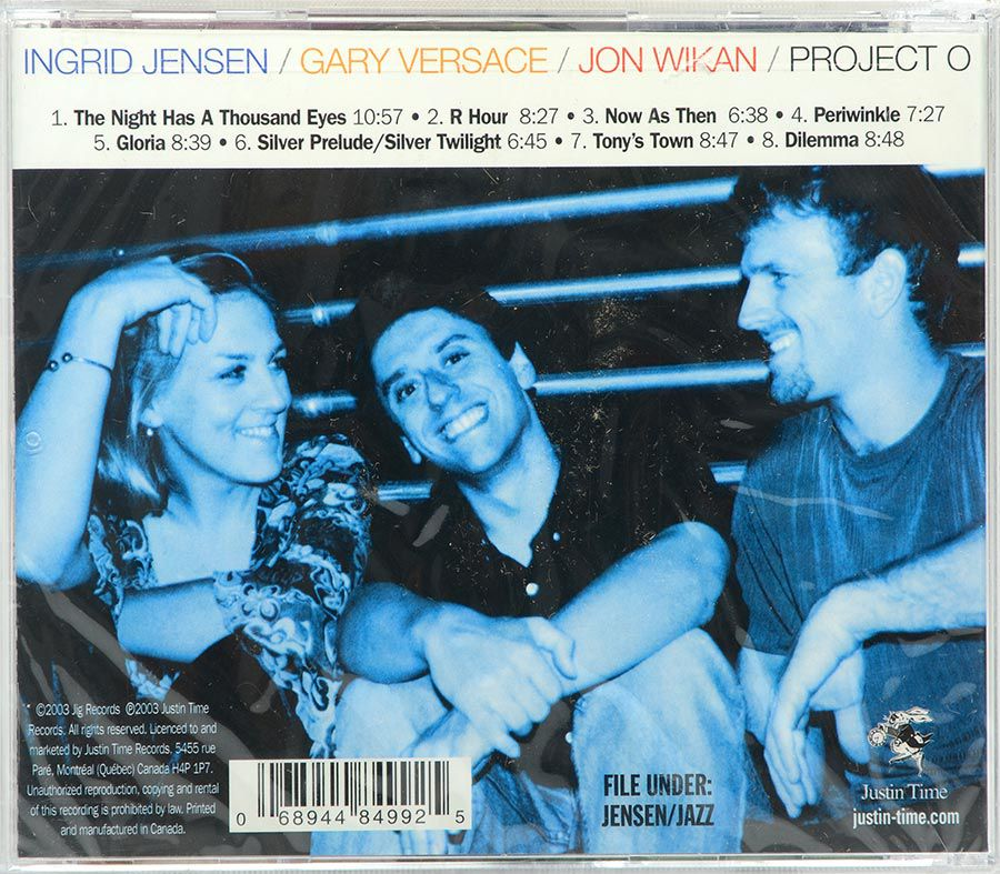 Cd Ingrid Jensen - Project O Now As Then - Lacrado - Importado