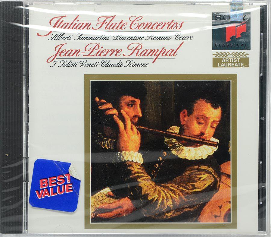 Cd Italian Flute Concertos - Jean Pierre Rampal - Lacrado - Importado