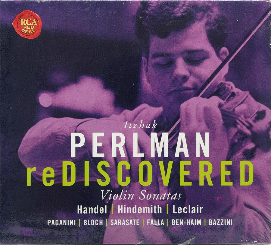 CD Itzhak Perlman - Rediscovered - Violin Sonatas - Lacrado - Importado