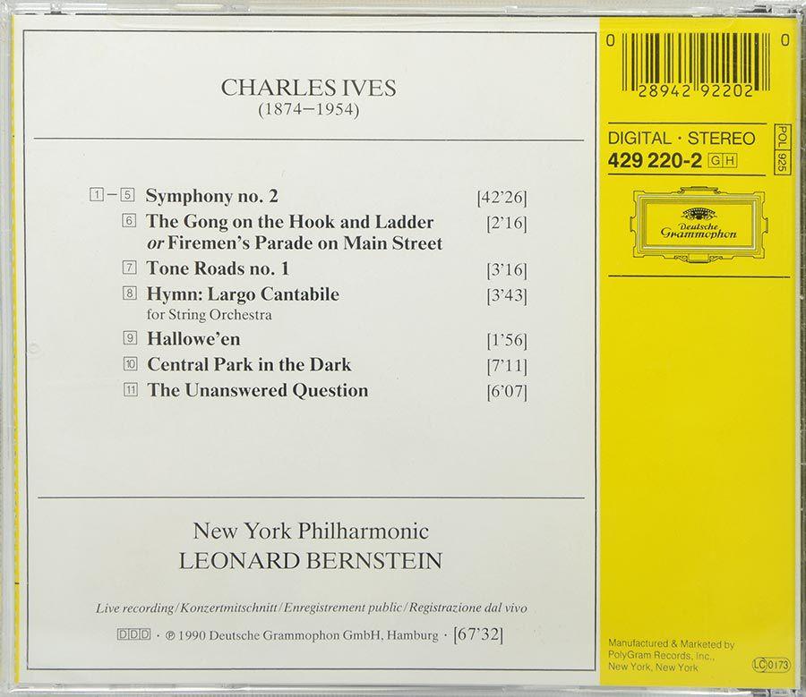 Cd Ives - Symphony No 2 - Central Park In The Park Etc - Lacrado - Importado