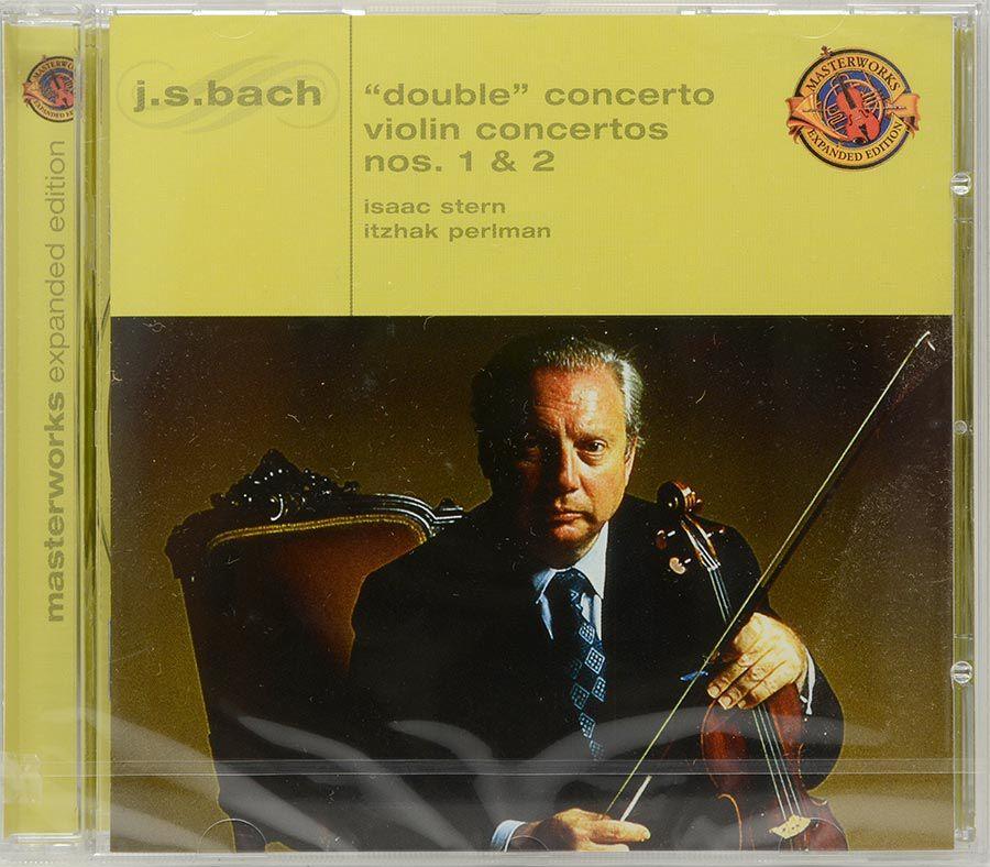 CD J. S. Bach - Violin Concertos - Isaac Stern Itzhak Perlman - Lacrado - Importado