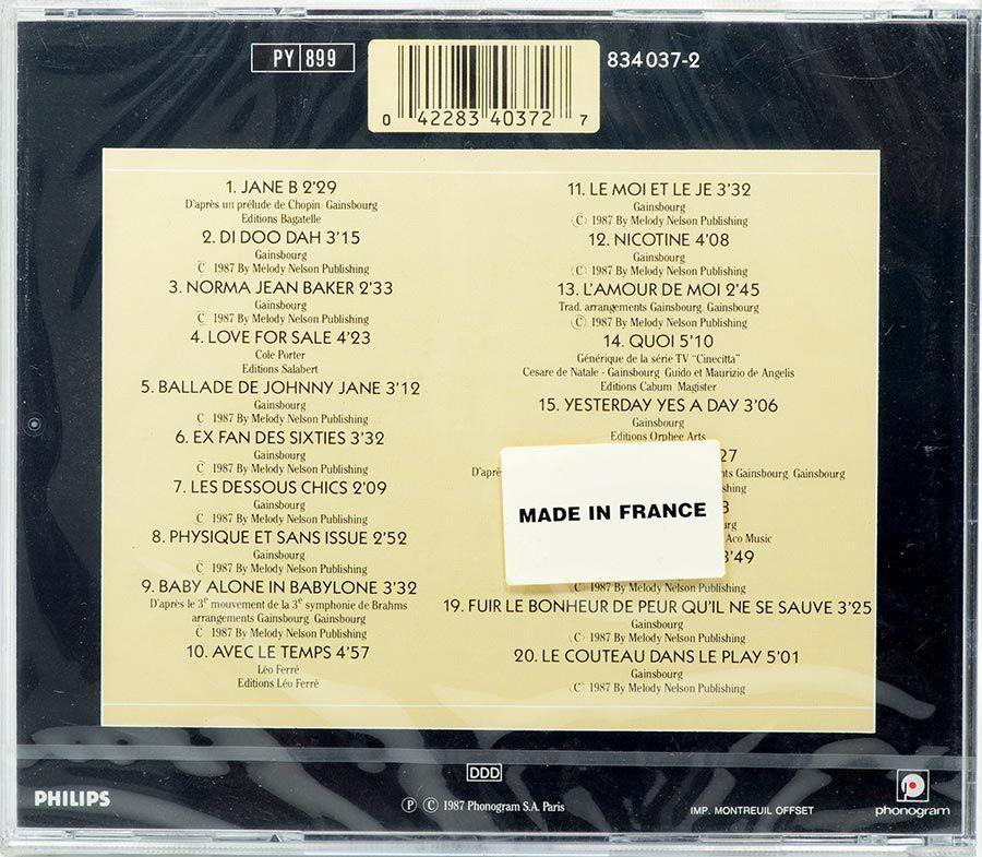 CD Jane Birkin - Au Bataclan - Lacrado - Importado