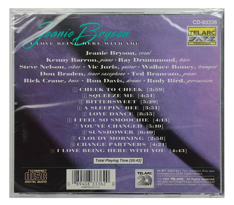 CD Jeanie Bryson - I Love Being Here With You - Importado - Lacrado