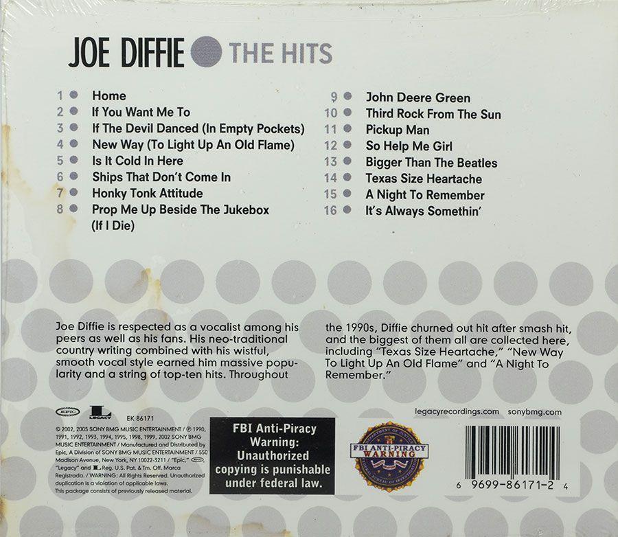 Cd Joe Diffie - The Hits - 16 Biggest Hits - Lacrado - Importado