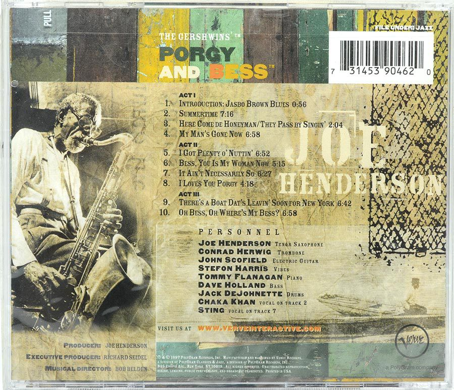 Cd Joe Henderson - Porgy & Bess - Lacrado - Importado