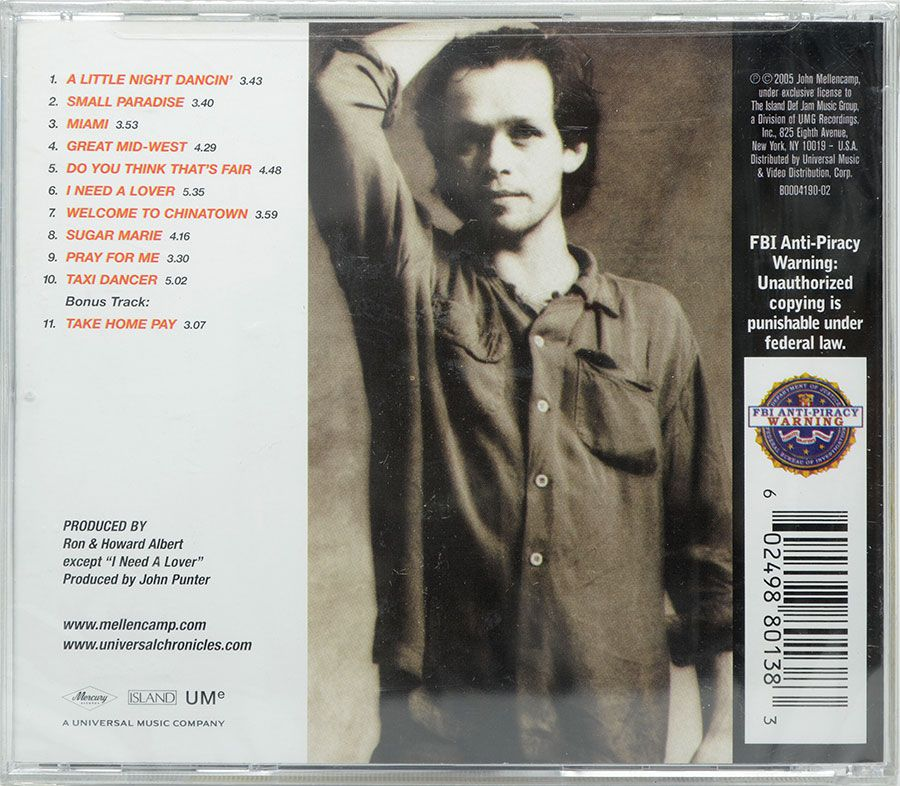 CD John Mellencamp - John Cougar Remastered - Lacrado - Importado