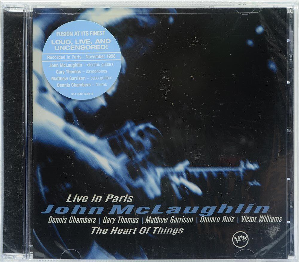 CD John Mclaughlin - The Heart Of Things - Live In Paris - Importado - Lacrado