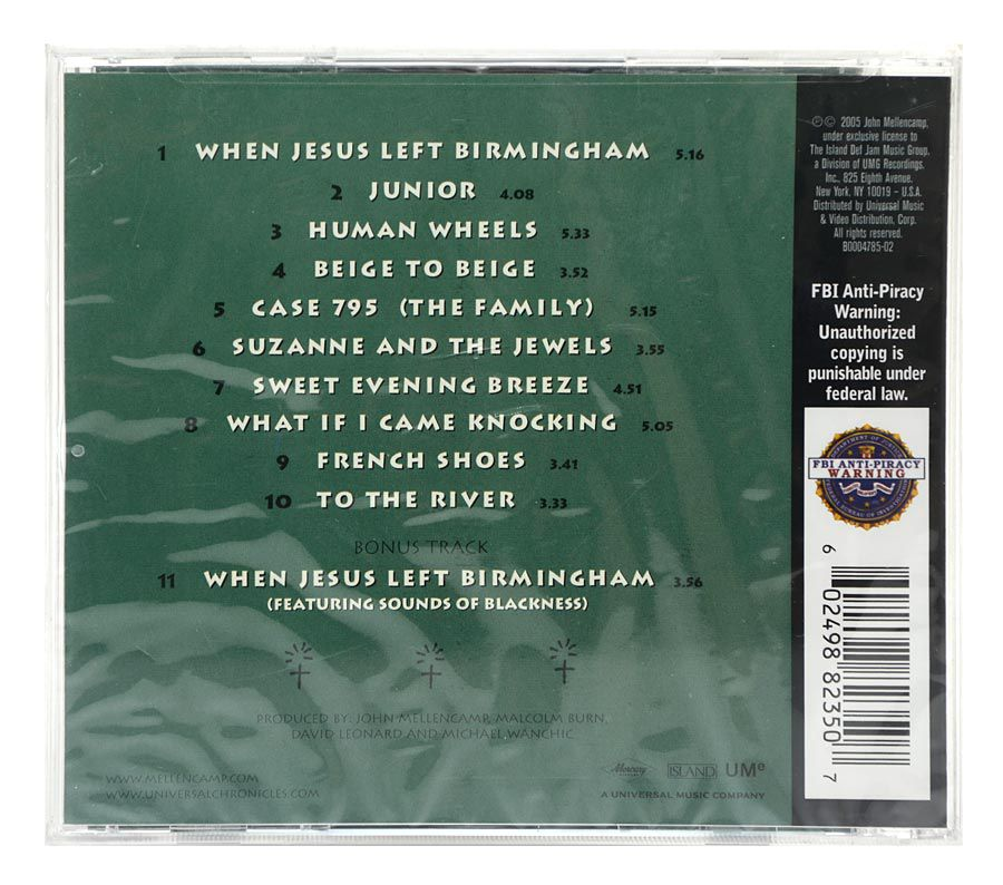 CD John Mellencamp - Human Wheels - Importado - Lacrado