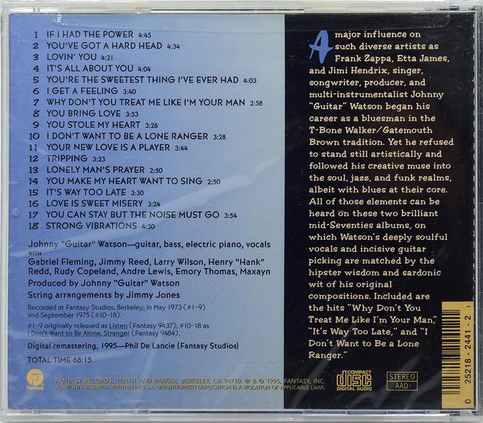 CD Johnny Guitar Watson - Lone Ranger - Lacrado - Importado