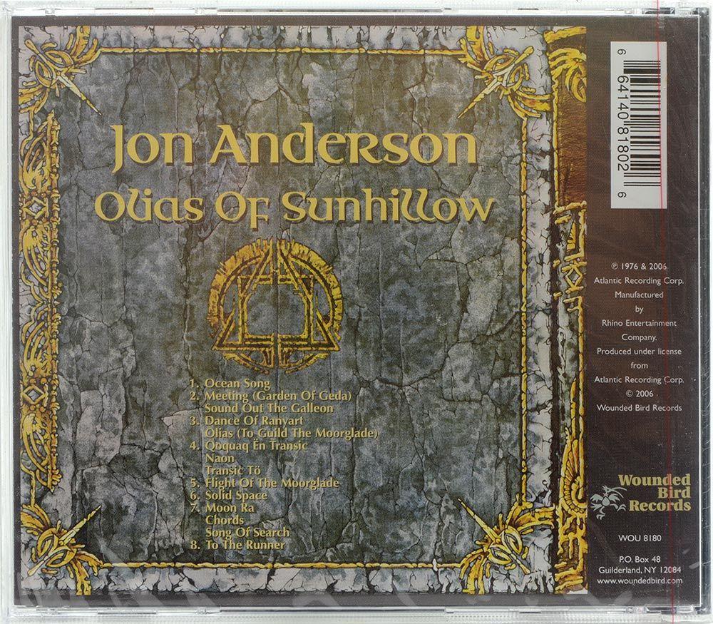 CD Jon Anderson - Olias Of Sunhillow - Importado - Lacrado