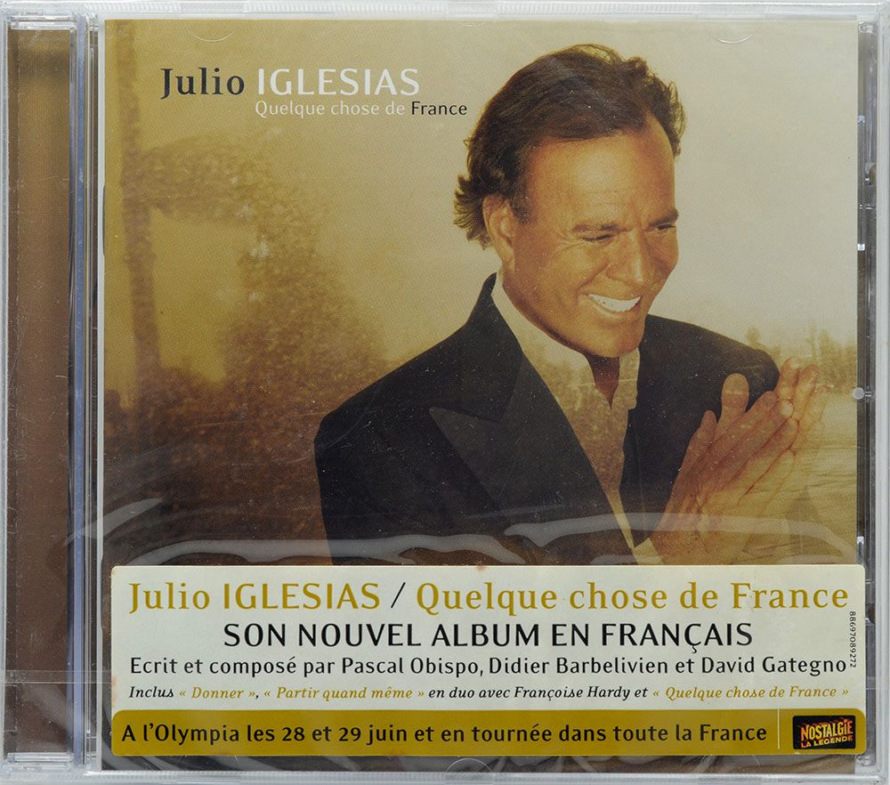 CD Julio Iglesias - Quelque Chose De France - Lacrado - Importado