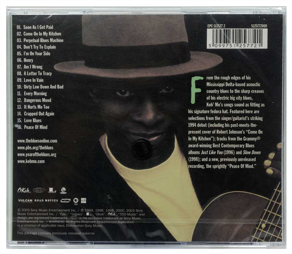 CD Keb' Mo' - Martin Scorsese Presents The Blues - Lacrado - Importado