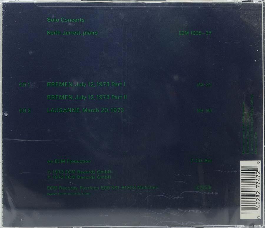 Cd Keith Jarrett Solo Concerts - Bremen Lausanne - Lacrado - Importado