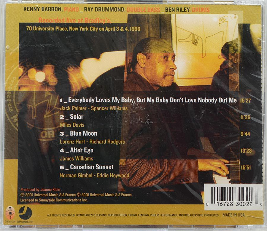 CD Kenny Barron Trio - Live At Bradley's - Lacrado - Importado