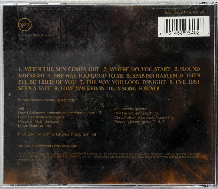 CD Kenny Rankin - A Song For You - Lacrado - Importado