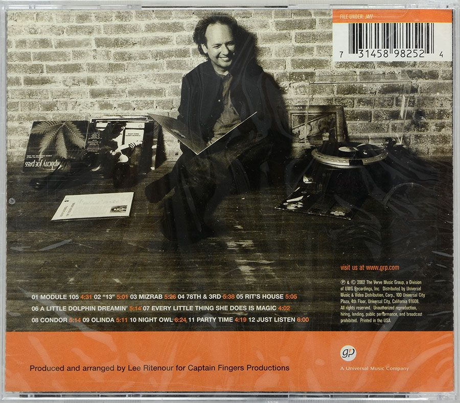 CD Lee Ritenour - Rit's House - Lacrado - Importado